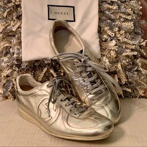 GOLD GUCCI SNEAKERS